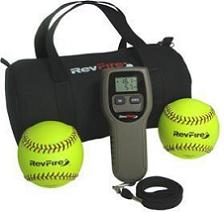 The RevFire pitching training device.